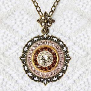 Swarovski Jewelry - Handmade Swarovski Vintage Inspired Necklace